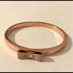 Authentic Kate Spade rose gold bracelet with bow.